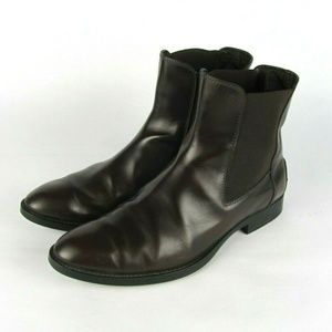 TOD'S Brown Leather Chelsea Ankle Boots 9